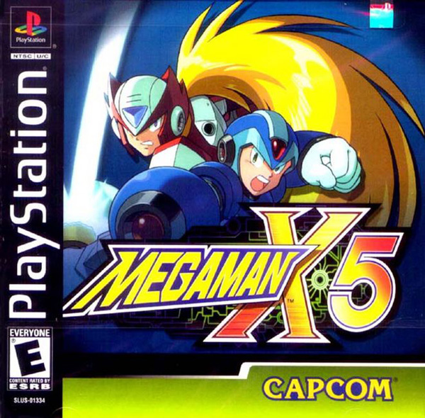 MegaMan X5 Front Cover